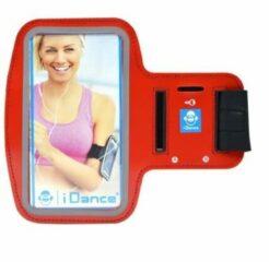 IDance I Dance Hardloop Armband - telefoonhouder - Rood - Universeel - Verstelbaar