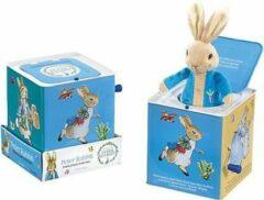 Blauwe Rainbow Designs Ltd Pieter konijn duveltje uit het doosje