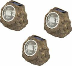 Luxform Tuinverlichting Andes 15 X 11 Cm Polyresin Bruin 3-pack