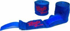 Gladts blauwe kleur bandage-bandages boxing-boksen-kickboksen-mma-muaythai-thaiboksen 460 cm lang