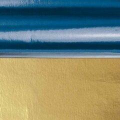 Merkloos / Sans marque Knutsel folie blauw/goud 50 x 80 cm - Hobby/creatief/knutsel folie