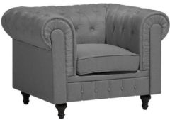 Beliani Chesterfield Fauteuil Polyester 85 X 112 Cm