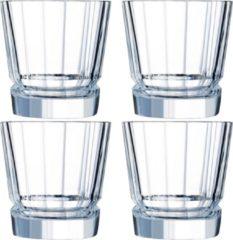 Transparante Cristal d'Arques - Macassar - Waterglazen - 32 cl - set van 4