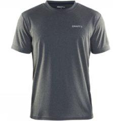 Licht-grijze Craft Prime Tee Sportshirt Heren - Grey Melange