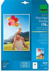 Inkjetfotopapier Sigel A4 - Everyday+ 170grs wit 20 vel