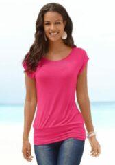 Roze LASCANA lang shirt (set van 2) met brede boord