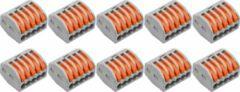 BES LED Lasklem Set 10 Stuks - 5 Polig met Klemmetjes - Grijs/Oranje