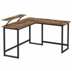 Maison Home Maison's Bureau - Hoekbureau - L-vormig bureau - Laptop standaard - Industrieel - 140x130x76
