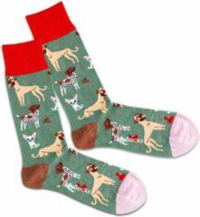 Groene DillySocks Dilly socks Silly Dogs Sock