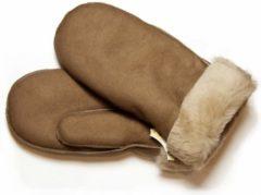 Beige Bernardino Taupe Lammy wanten suede voor volwassenen - Handschoenen schapenwol 9 (XL - 23 cm)