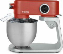Rode H.KOENIG H. Koenig - Keukenmachine KM124 - Staande mixer - 5 liter - 8 snelheden