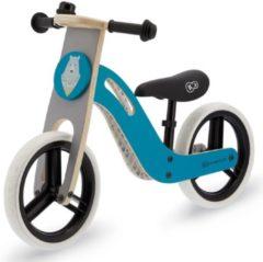 Blauwe Kinderkraft Uniq Loopfiets - Balance Bike Turquoise