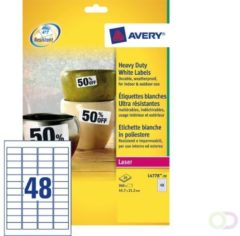 Witte Avery Ultra-sterke etiketten, wit, 45,7 x 21,2 mm, extra permanent
