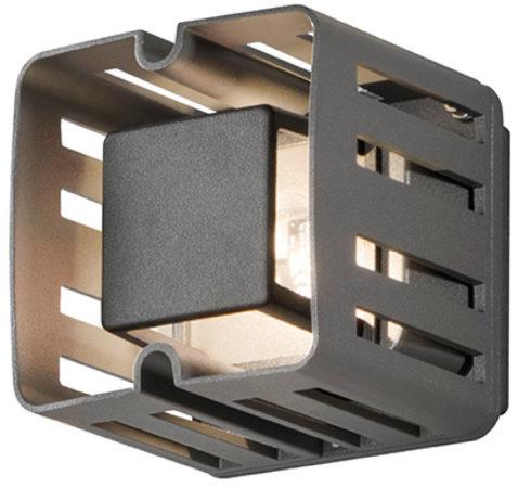 Afbeelding van Konstsmide Pescara 7978-370 Buiten LED-wandlamp Energielabel: LED (A++ - E) 3 W Warm-wit Antraciet, Zwart