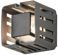 Konstsmide Buitenlamp 'Pescara Cube' Wandlamp, PowerLED 1 x 3W / 230V, kleur Antraciet