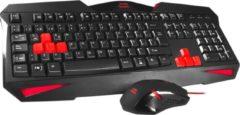Mars Gaming MCP1 Zwart, Rood toetsenbord