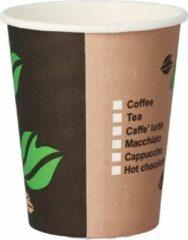Beige KORA Kartonnen bekers 200ml - 100 stuks - koffie bekers - wegwerp papieren bekers - drank bekers - milieuvriendelijk Cardboard cups 200ml - 100 pieces - coffee cups - disposable paper cups - beverage cups - environmentally friendly