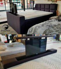 "Antraciet-grijze Luxe Boxspring SPECTRA + TV Lift 32"" + Samsung LED TV - 180x210cm"
