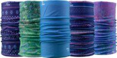 Paarse Necky Protect 5-pack Bandana | Mondmasker | Sjaal | Nekwarmer | Multifunctionele hoofdbescherming | Cadeau| Fiets | Sport | Wintersport | Watersport | Outdoor | Scooter