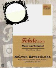 Witte Fohde Hoeslaken Molton Waterdicht hoeslaken - 180 X 200 cm
