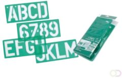 Bruna Lettersjabloon Linex 100mm hoofdletters/letters/cijfers