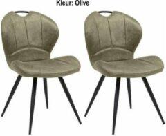 MX Sofa Eetkamerstoel Miracle kleur: Olive set van 2 stuks