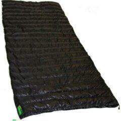 Zwarte LOWLAND OUTDOOR® Ultra compact blanket - donzen slaapzak - 445g - 210 cm +8°C