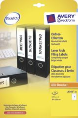Avery-Zweckform Losse etiketvellen AVERY Zweckform Perfect Printout L4760-25 ( ),Wit, Rechthoek, Afgeronde hoeken, 210 stuks, Permanent