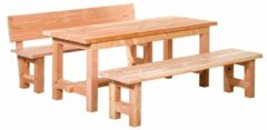 Van Kooten Tuin en Buitenleven Douglas compleet meubelset tafel + 2 banken