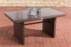 CLP Polyrattan Tisch FISOLO, bis zu 4 Farben wählbar, Gartentisch Größe ca. 140 x 80 cm, Höhe: 66 cm
