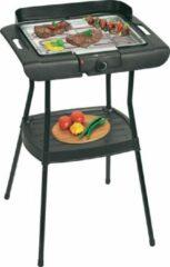 Zwarte Quadra Clatronic BQS 3508 Eletrische Barbecue