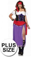 Zwarte Leg Avenue gypsy jurk grote maten 3xl/4xl