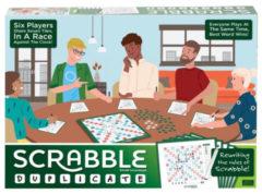 Blauwe Mattel scrabble Duplicate bordspel (en)