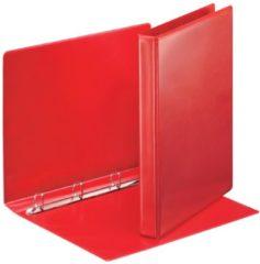 Rode Esselte personaliseerbare ringmap, rug van 3,8 cm, 4 D-ringen van 20 mm, rood