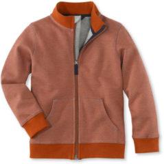 Hessnatur Kinder Sweatjacke aus Bio-Baumwolle – orange – Größe 158/164