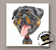 Heads Tegel Hond Rottweiler