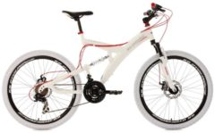 KS Cycling FULLY MOUNTAINBIKE 21 GÄNGE TOPSPIN 26 ZOLL MTB Fullsuspension Herren weiß