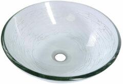 Sapho Mendoza glazen waskom 42cm transparant