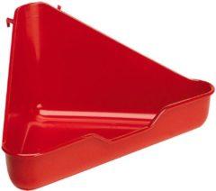 Ferplast Hoektoilet Fretten L 370 - Dierenverblijf - 27x27x17 cm Assorti