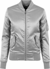 Urban Classics Bomber jacket -XS- Satin Zilverkleurig