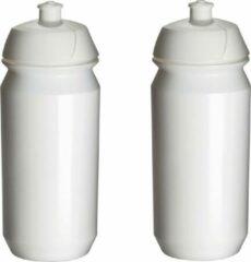 2 x Tacx Shiva Bidon - 500 ml - Wit - Drinkbus
