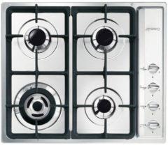 Smeg SR64SGHNLK inbouw gaskookplaat met gietijzeren pannendragers