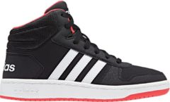 Rode Adidas Hoops Mid 2.0 K Kinderen Sneakers - Core Black/Ftwr White/Hi-Res Red S18 - Maat 38
