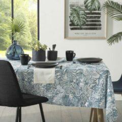 Atmosphera Tafelkleed Jungle anti vlek - 140 x 240 cm - Blauw - Anti vlekken