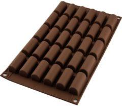 Bruine Silikomart Chocolade Mal Mini Buche