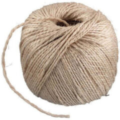 Creme witte Merkloos / Sans marque Naturel touw 150 meter op rol - 3 mm - Sisalvezels 500 grams - Klus/tuin/hobby touw/draad