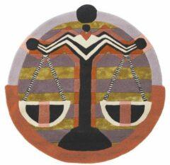 Ted Baker - Zodiac Libra 161705 Vloerkleed - 200 cm rond - Rond - Laagpolig, Rond Tapijt - Modern - Meerkleurig