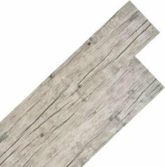 Grijze VidaXL Vloerplanken 18 st - PVC - Washed eiken - 122,8 x 23,8 cm