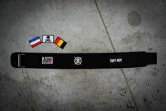 Zwarte Tuff Guy Sports Tuff Guy - Black Nylon PRO Lifting Belt - Gewichthef Riem - Geschikt voor Functional Fitness, Olympisch Gewichtheffen en CrossFit - 3XS