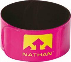 Nathan Reflector clips | Be Seen Run Longer | roze | 2stuks
